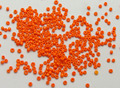 10000 Glass Opaque Seed Beads 1.5mm (15/0) Orange + Storage Box