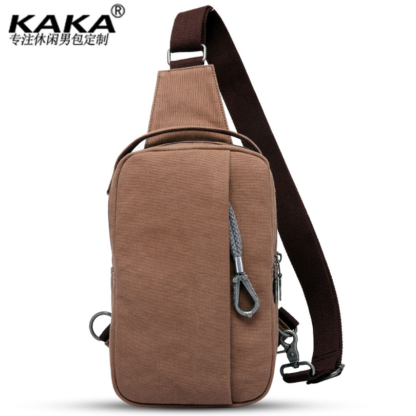 KAKA Casual Men's Canvas Sling Bag for Short Trip Messenger Crossbody Bag for Boys  Large Capacity Chest Bag for Men travel casual sling messenger chest bag high quality men canvas bag pack canvas crossbody sling bag for ipad