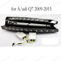 Black ABS Cover 12V Car DRL LED Daytime Running Light For A/udi Q7 2009 2015 With Yellow Turning Function