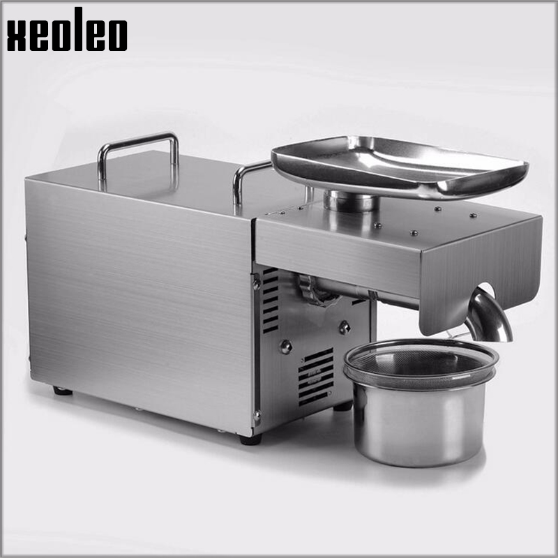 Xeoleo Oil press machine Oil presser Olive Oil machine Stainless steel Cold&Hot 750W suitable for almond/Peanut Household 220v mini oil press machine olive peanut oil pressing presser household oil extraction machine hf 04