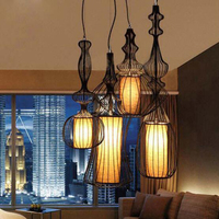 Vintage Pendant Lights White Black Color Lampshade Loft Style Kitchen Dining Room Luminaire Suspendu Pully Retro