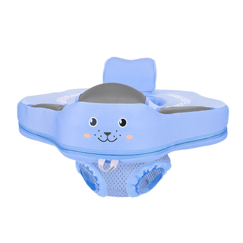 Non-Inflatable Baby Swim Floating Seat Ring Floats Child Floater Infant Swimming Ring Float Pools Water Fun Accessories Toys - Blue