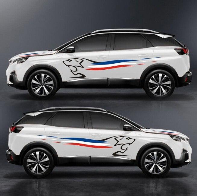 Réfléchissant Autocollant De Voiture Étanche Film de Vinyle de Décalque Racing pour Honda Ford Foucs Volkswagen Toyota BMW Accessoires Couverture