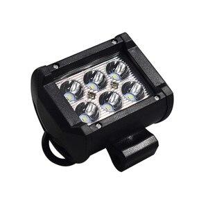 Image 2 - Doble fila de alta luminosidad LED 18w foco de trabajo Para coche faros de motocicleta modificada lámparas LED Para coches Luces Led Para Auto