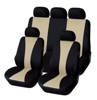 2017 nowa stylizacja przód tył uniwersalne pokrowce na siedzenia samochodowe 9 sztuk zestaw Luxury Auto śliczne 5 kolorów pokrowce na siedzenia samochodowe tanie i dobre opinie YANG MEI LING Cztery pory roku Poliester 46 46inch Pokrowce i podpory 0 8kg 22 05inch Car Seat Covers Black Gray Black Beige Black Red Black Blue Black Pink Black Green