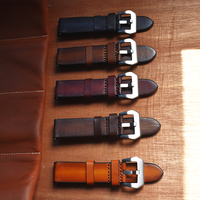 Handmade Genuine Leather Watch Strap High Leather Replacement Wristband 20mm/22mm/24mm Five Colors Optional Quick Release