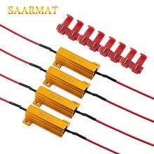 4x 6ohm 50 Вт нагрузочный резистор Canbus Анти-Мигающие декодеры для светодиодной лампы заднего хода, поворотник, противотуманная фара, дневные ходовые огни