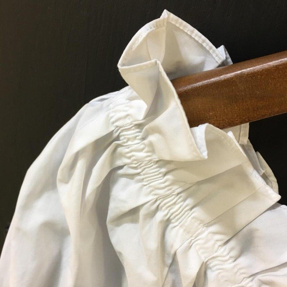 Manches Multi chemise Épaule Une Demi 0305 Lâche À Xx8qZwn8T