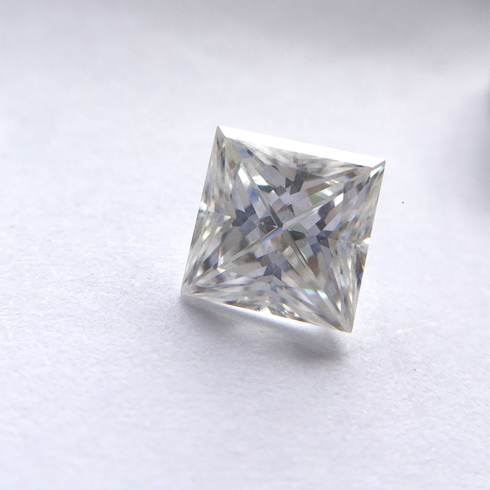 1 25 Carat DEF Princess 6mm Excellent Cut Moissanites Loose Stone for Lady s Engagement Rings