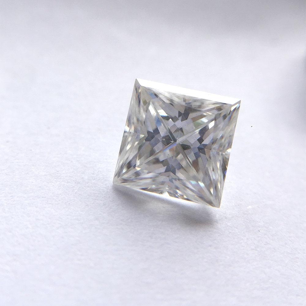 1.25 캐럿 def 공주 6mm 우수한 컷 moissanites 레이디의 약혼 반지에 대한 느슨한 돌 보석 만들기 테스트 postive-에서루즈 다이아몬드&보석부터 쥬얼리 및 액세서리 의  그룹 1