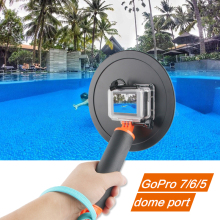 6 inch Diving Dome Port for GoPro Hero 4 3+ Black Silver Go Pro Camera with Waterproof Case Dome for GoPro 3+ 4 Accessory