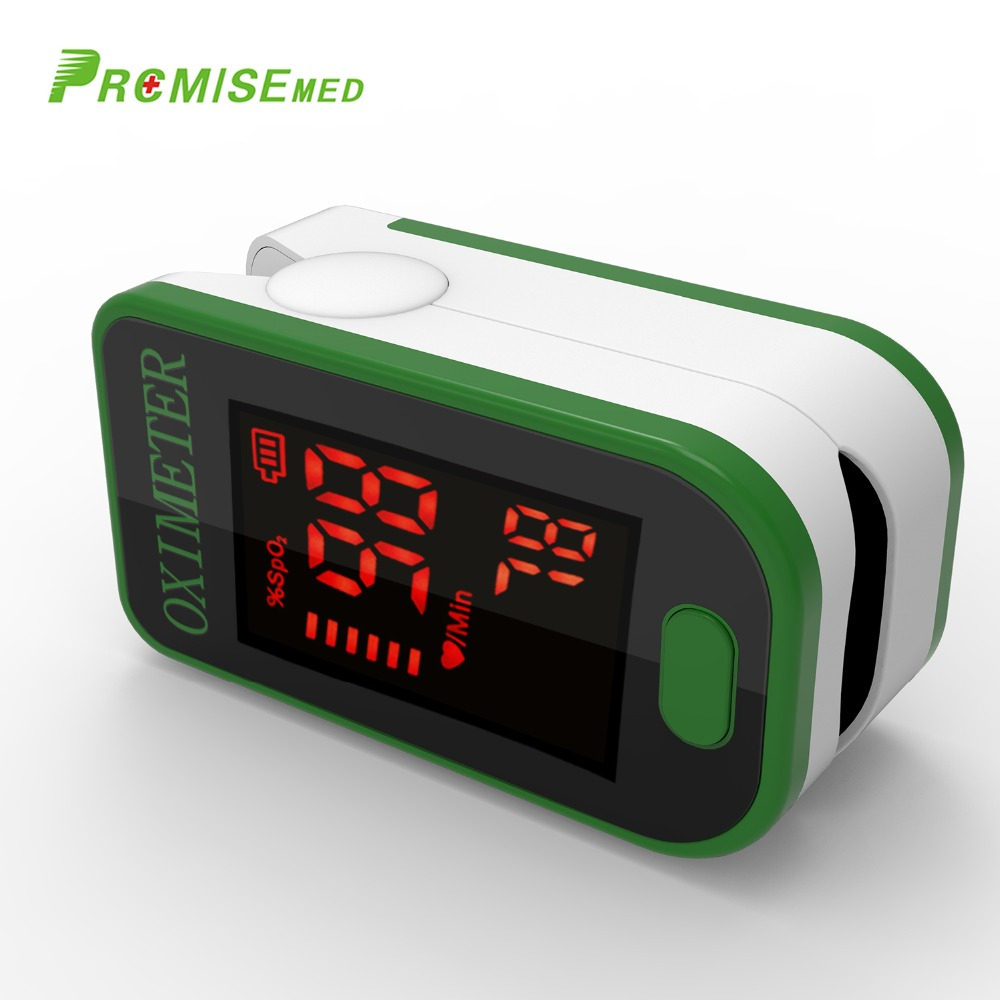PRO-F4 Finger Pulse Oximeter,Heart Beat At 1 Min Saturation Monitor Pulse Heart Rate Blood Oxygen SPO2 CE Approval-Green image