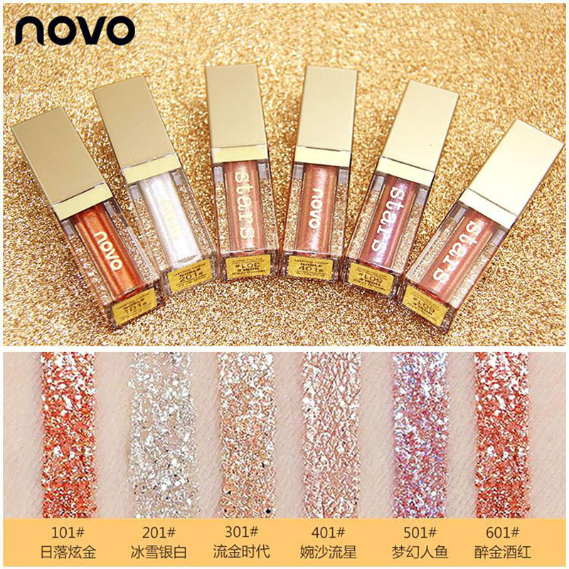 Fashion Style 1pcs 8 Color Liquid Eyeshadow Sand Drift Dish Eye Makeup Waterproof Mineral Powder Shimmer Eye Shadow Make Up Cosmetics Beauty Essentials Eye Shadow