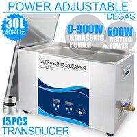 30L ультразвуковой очистки промышленных 0 900 Вт Мощность Регулируемый Дега нержавеющей ультразвуковой ванны электронный платы Engine Шестерни