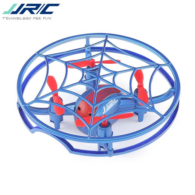 2018 New Hot JJRC H64 For Spiderman G-Sensor Control Voice Prompt Altitude Hold Mode RC Drone Quadcopter Blue Red