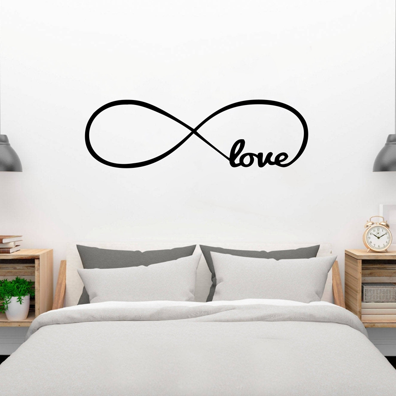 Free Shipping Bedroom Wall Decals, Love Wall Stickers Bedroom Decor  Infinity Symbol Word Love Bedroom Vinyl Wall Art In Wall Stickers From Home  U0026 Garden On ...