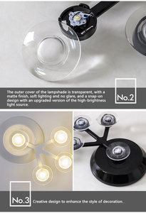 Image 4 - Candelabro led para sala de estar, dormitorio, hogar, Araña de techo moderna, iluminación, candelabro ZZX0008