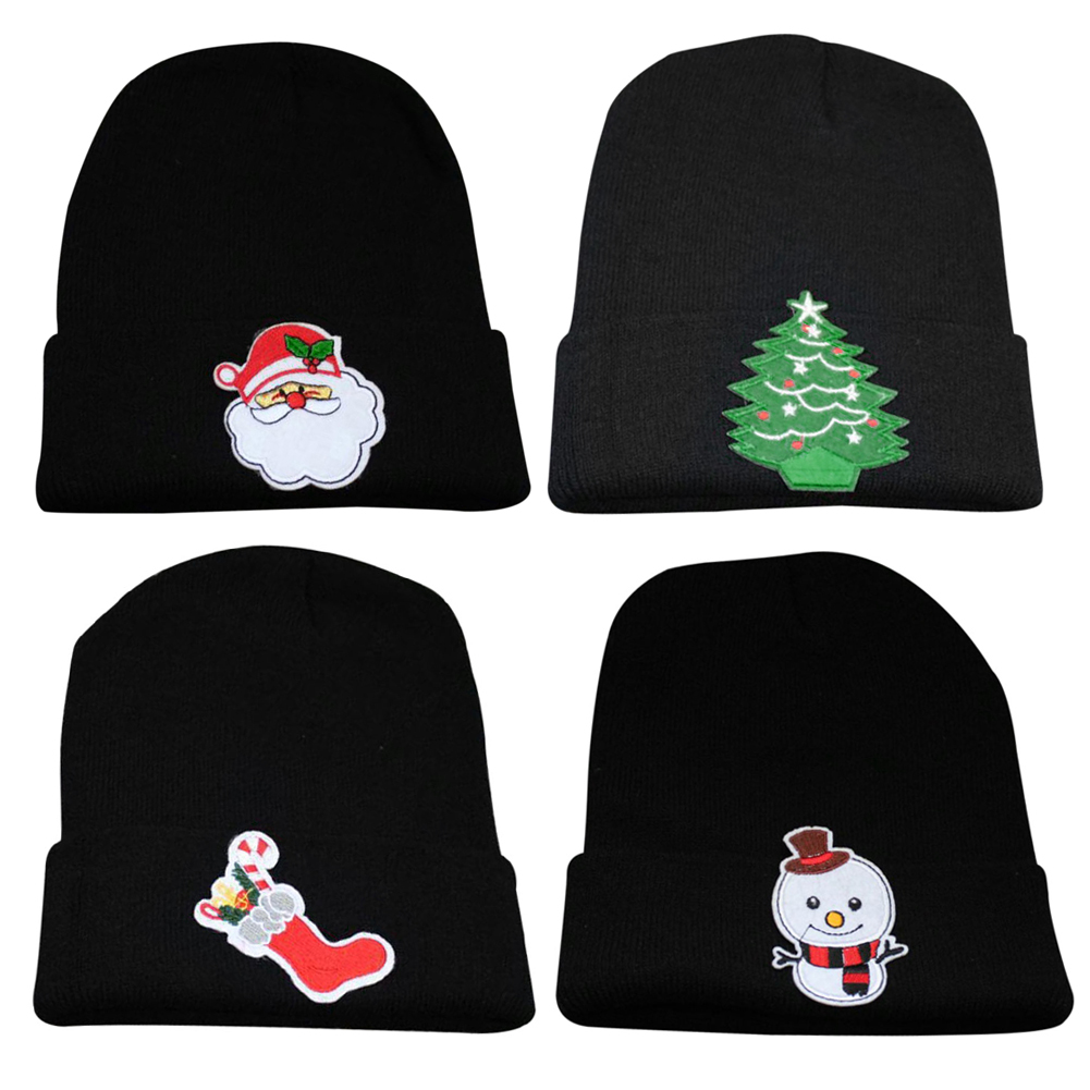 2018 Winter Christmas Caps Unisex Women Men Beanie Hat Warm Winter Knit Cap Cotton Casual Christmas Gift Soft Hats Decoration
