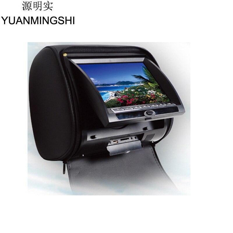 Yuanmingshi dvd плеер автомобиля 7 дюймов подголовник автомобиля dvd плеер с fm двойной Каналы ИК передатчик с Дистанционное управление