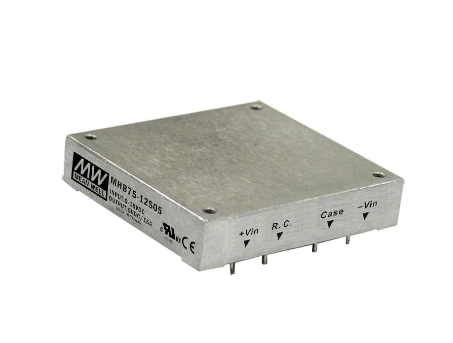 Здесь можно купить  [PowerNex] MEAN WELL original MHB75-12S12 12V 6.25A meanwell MHB75 12V 75W DC-DC Half-Brick Regulated Single Output Converter  Строительство и Недвижимость