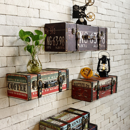 Charming Vintage Retro PU Leather Painting Luggage Suitcase Box Home Ktv Bar Pub  Decorative Wall Decoration In Plaques U0026 Signs From Home U0026 Garden On  Aliexpress.com ...