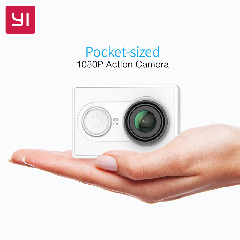 YI Action Camera 1080P 16.0MP 155 degree Ultra-wide Angle 3D Noise Reduction WiFi Sports Mini Camera ...