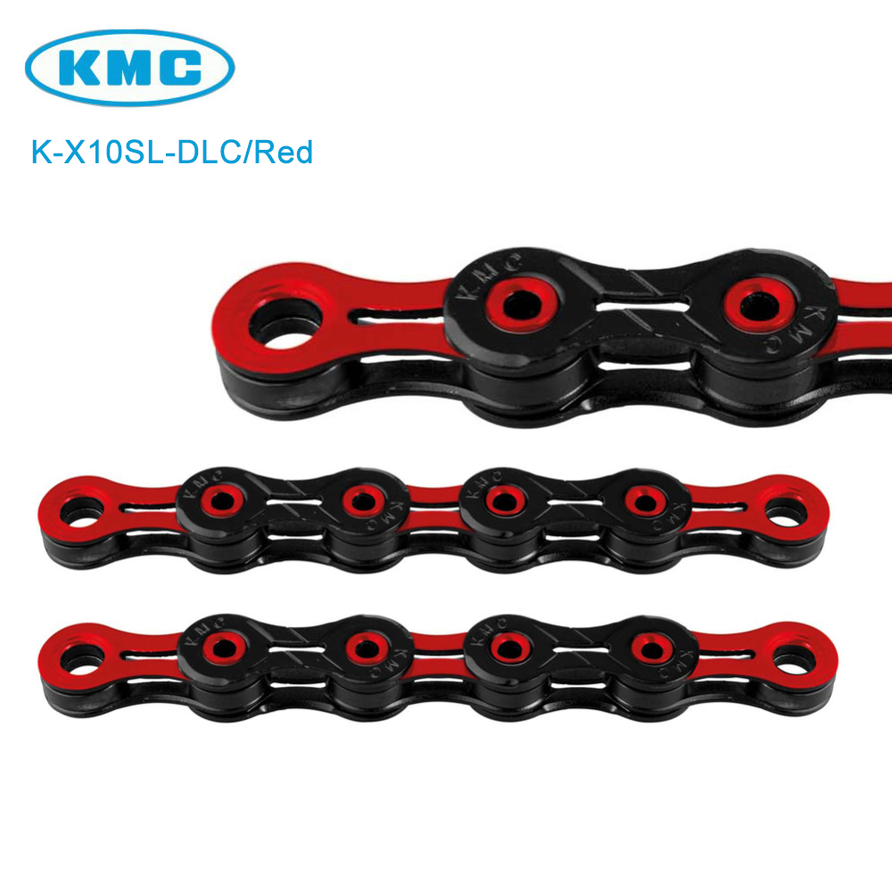 Silver//Red KMC X10 chain,116 link with Missing Link