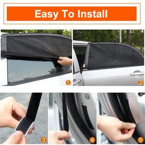 Image 5 - 2 упак. Солнцезащитный козырек от солнца для автомобиля, защита от ультрафиолета, занавес для окна автомобиля, солнцезащитный козырек, летняя Защитная пленка для окна