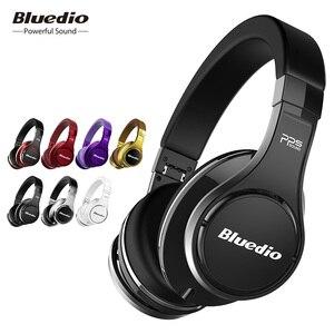 Image 1 - Bluedio U (UFO) Bluetooth наушники, стерео наушники, наушники с встроенным микрофоном, 3Д музыкальный звук, 8 драйверов, Hi Fi профессиональныенаушники для болельшиков.