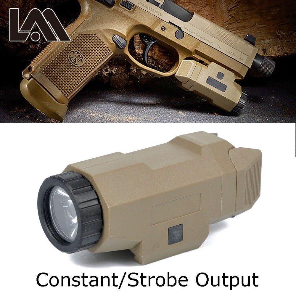 Tactique Compact APL Glock Pistolet Lumière Constante/Stroboscopique lampe de Poche led Lumière Blanche Pour Glock 17 19 18C Apl aple 20mm Rail