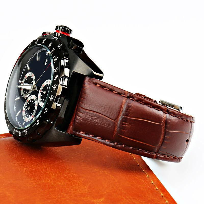 MAIKES Nuevo reloj pulsera cinturón negro correas de reloj correa de - Accesorios para relojes - foto 6