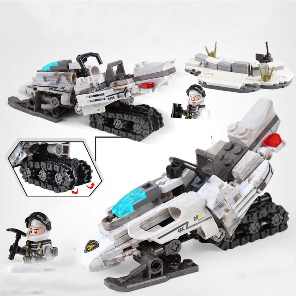 hot LegoINGlys military WW2 Soviet Army Snow motorcycle war moc Building Blocks model mini weapen soldier figure brick toys gift