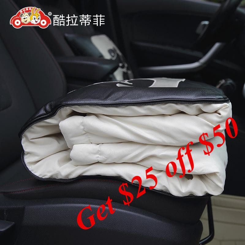 2018 Double Use Cartoon Cushion quilt car office rest blanket pillow lumbar support women bear car styling 3301