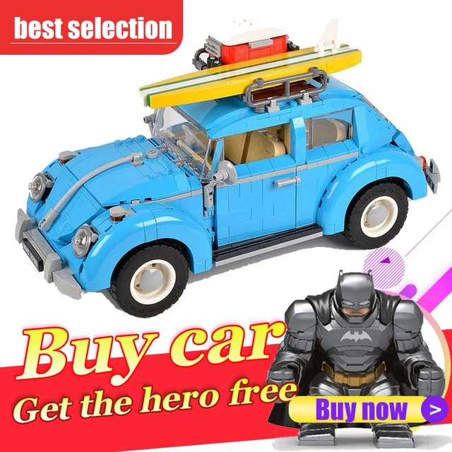 21003 1193Pcs Technical Series the Beetle model Building Blocks car Compatible with 10252 toys for children gift