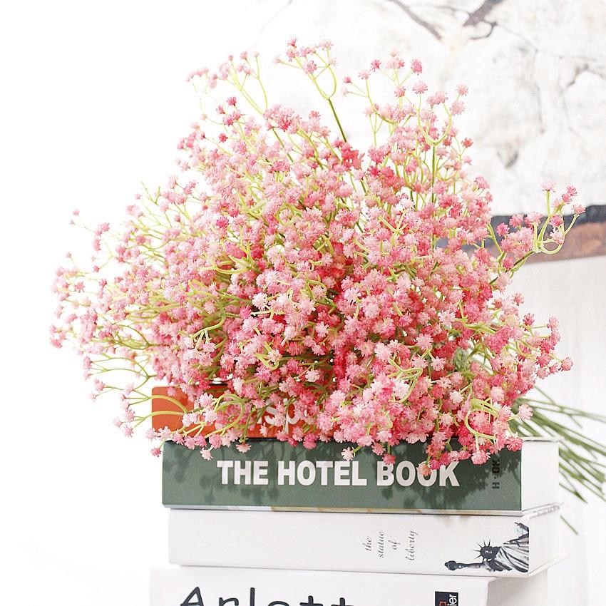 Düğün Dekoratif Çiçekler Yapay 11 adet bebek nefes çiçek Gelin - Tatiller ve Partiler Için - Fotoğraf 2