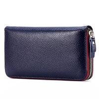 Длинный женский кошелек с внутренним карманом, женский большой кошелек Perse Carteira, Женский кошелек из натуральной кожи с отделением для карт, ...