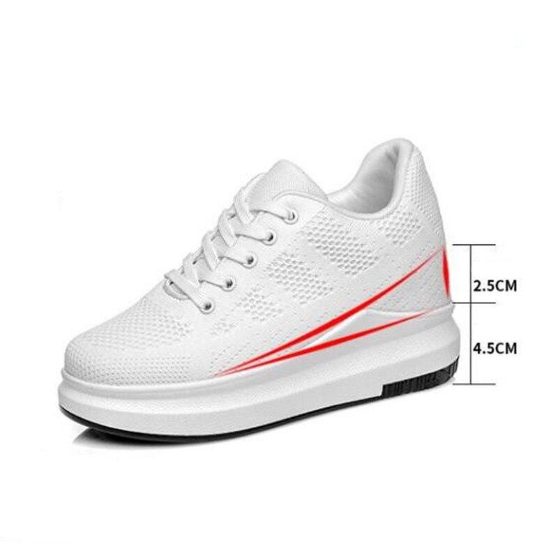 Chaussures Sneakers Femme forme Plat Dames Femmes Talons Appartements Blanc Confort Plate 1 D'été Noir 3 2 Pour PI5wfqY