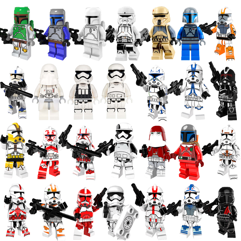 Star Wars Boba Fett Rebels Imperial Clone Storm Trooper Clone Soldiers With Weapon Compatible Legoingly Building Block Gift Toy
