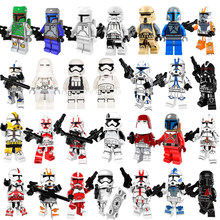 Star Wars Boba Fett Rebels Imperial Clone Storm Trooper Clone Soldiers With Weapon Compatible Legoingly Building Block Gift Toy(China)