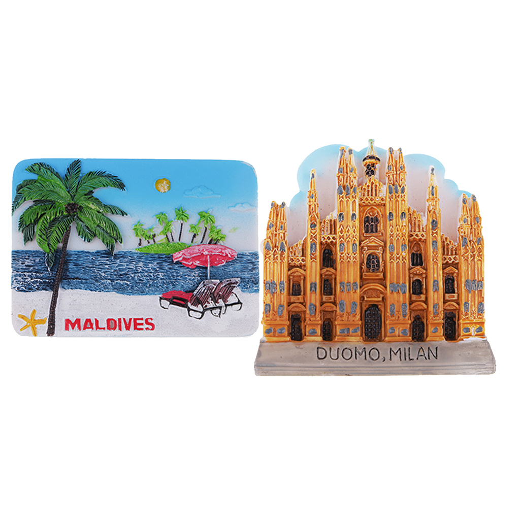 Collectible 3D Fridge Magnet Maldives &Cathedral Tourism Gift Home Decor