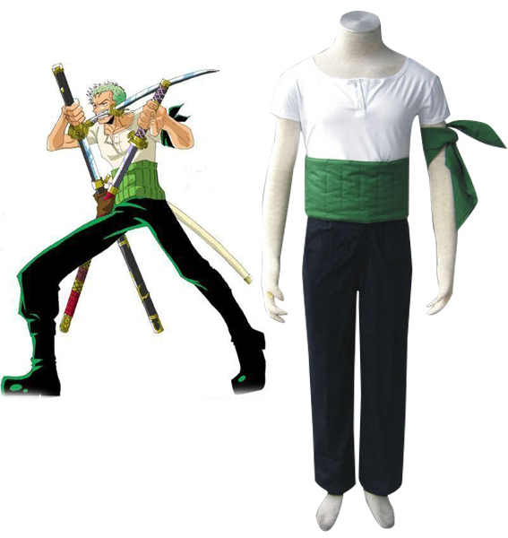 Free Shipping One Piece Roronoa Zoro Two Years Ago Anime Cosplay Costume