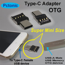 PCTONIC slim Type-C USB OTG adapter to type-A USB male to USB-C male mobile phone USB cable metal for flash Drive disk mouse