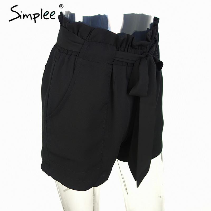 HTB1js4NNVXXXXX6XXXXq6xXFXXXr - Chiffon shorts Bow high waist  belt PTC 94