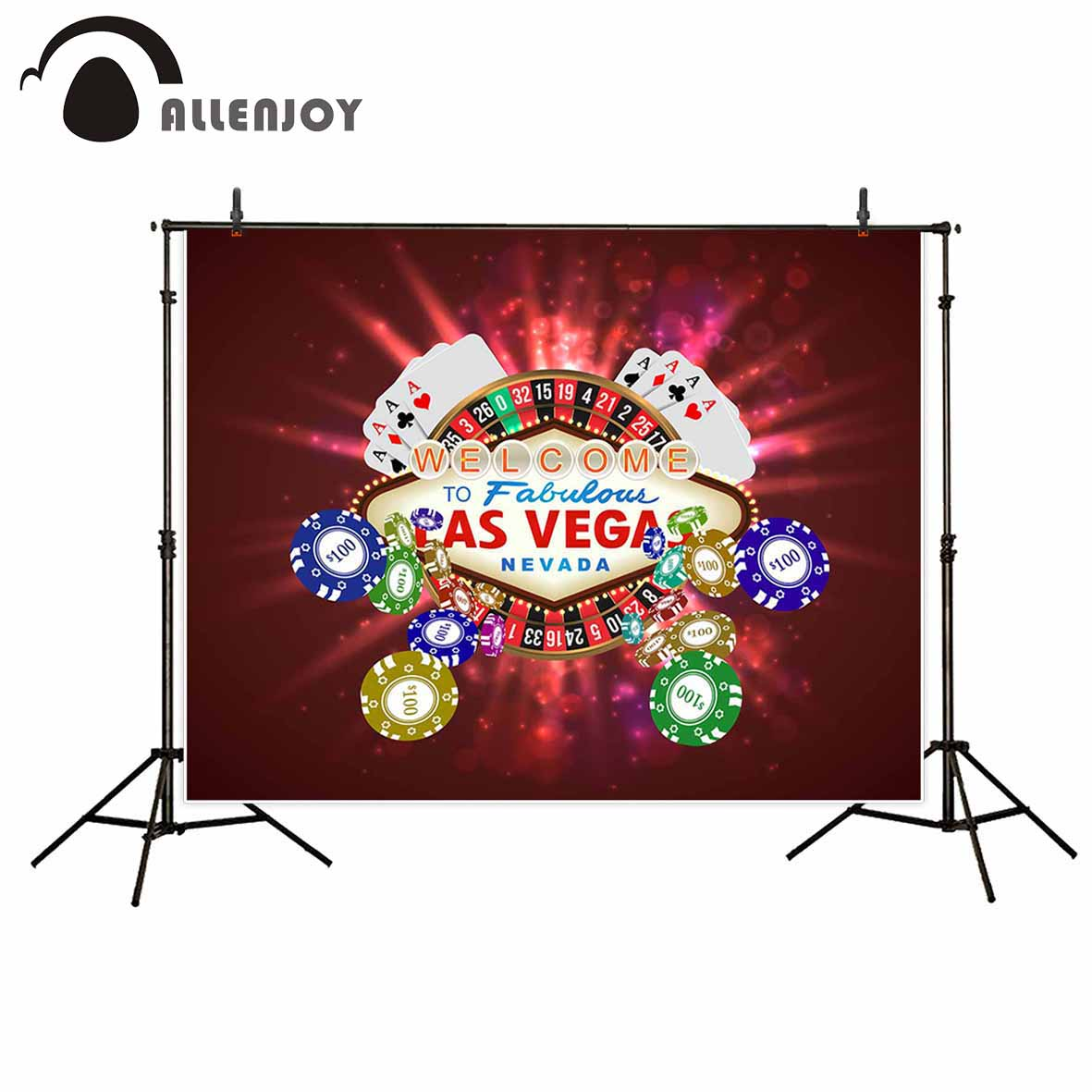 Las Vegas Poker Birthday Banner Personalized Party Decoration Backdrop Christmas Gifts 2018