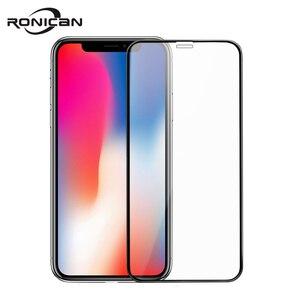 Image 2 - 0.23mm 3D מעוקל מזג זכוכית עבור iPhone X RONICAN רך קצה בחדות גבוהה אנטי כחול אור מסך מגן עבור iPhone XS