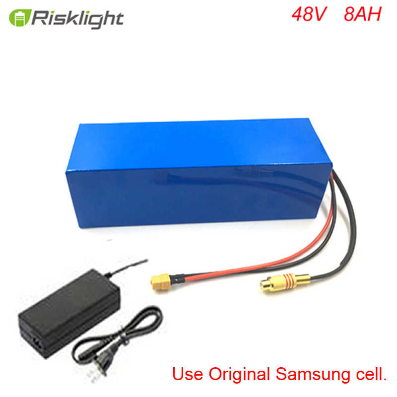 48V 500W 750W bafang Lithium Battery Pack 48V 8Ah Electric Bicycle Battery with 15A BMS and 54.6V 2A Charger