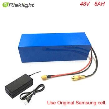 Bafang-batería eléctrica para bicicleta, 48V, 500W, 750W, bateria de litio, 48V, 8Ah