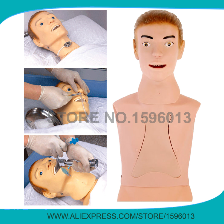 Advanced Nasogastric Feeding and Trachea Intubation Training Simulator,Nursing Training Model high quality child trachea intubation model intubation training model with soft and vivid head and trachea