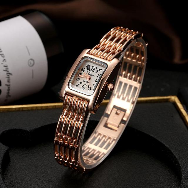 LVPAI Fashion Luxury Watches Women 2018 Brand Stainless Steel Bracelet watches L