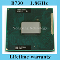 Lifetime warranty Celeron B730 1.8GHz Dual Core SR0QA Notebook processors Laptop CPU PGA 988 pin Socket G2 Computer Original